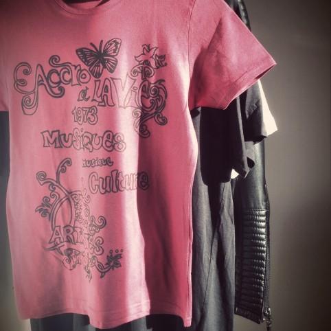 t shirt accro framboise