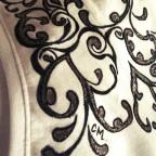 t shirt space tattoo white