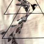t shirt bird & feather