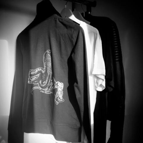 veste zippée snake
